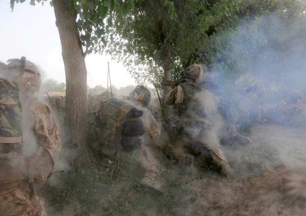Soldier Fires 66mm Rocket