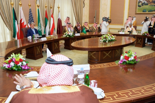 secretary_kerry_sits_with_gulf_cooperation_council_members_before_meeting_in_saudi_arabia_281669681424629